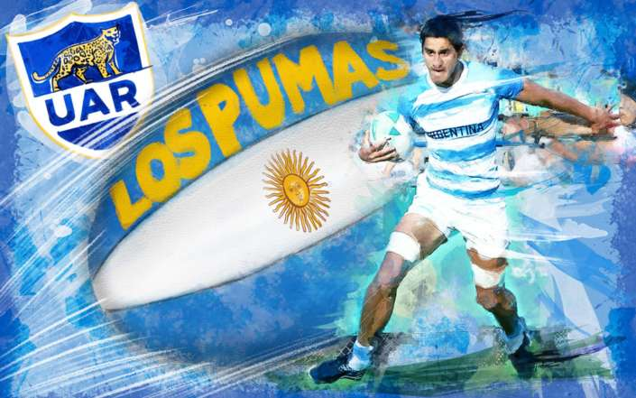 Argentina Rugby Illustration