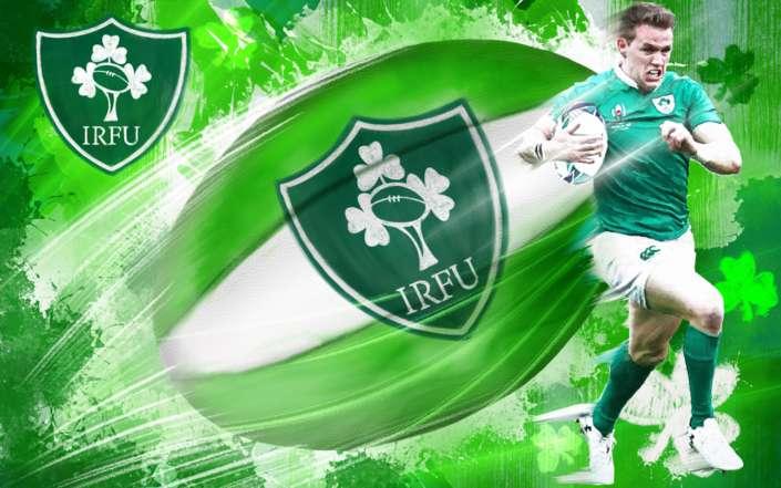 Ireland Rugby Illustration Digital Art Mixed Media